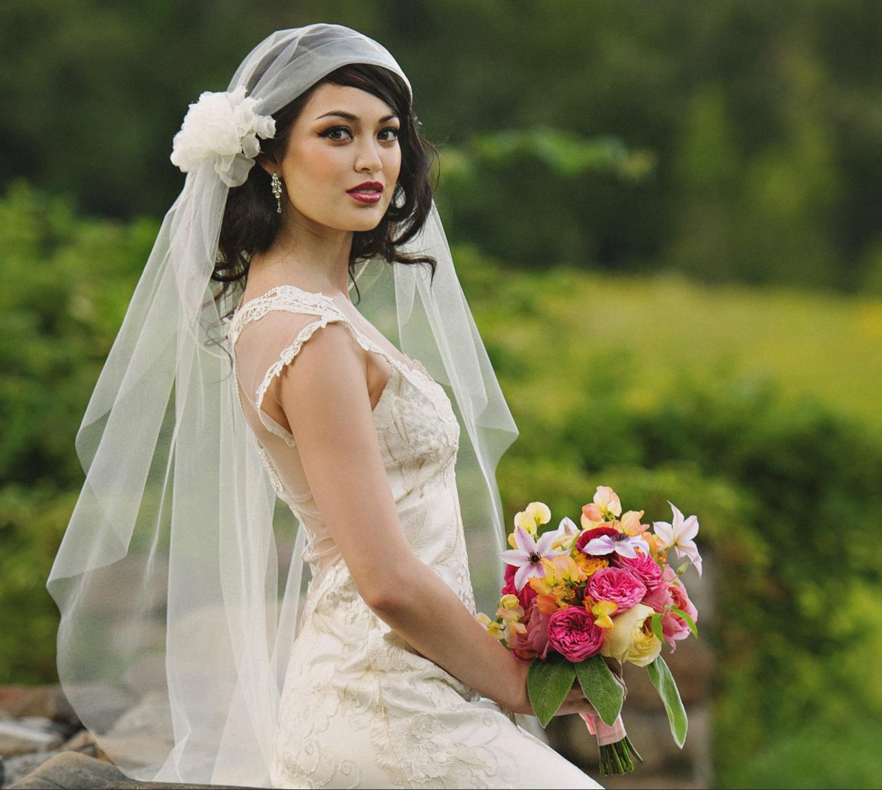 Bride photo before retouching